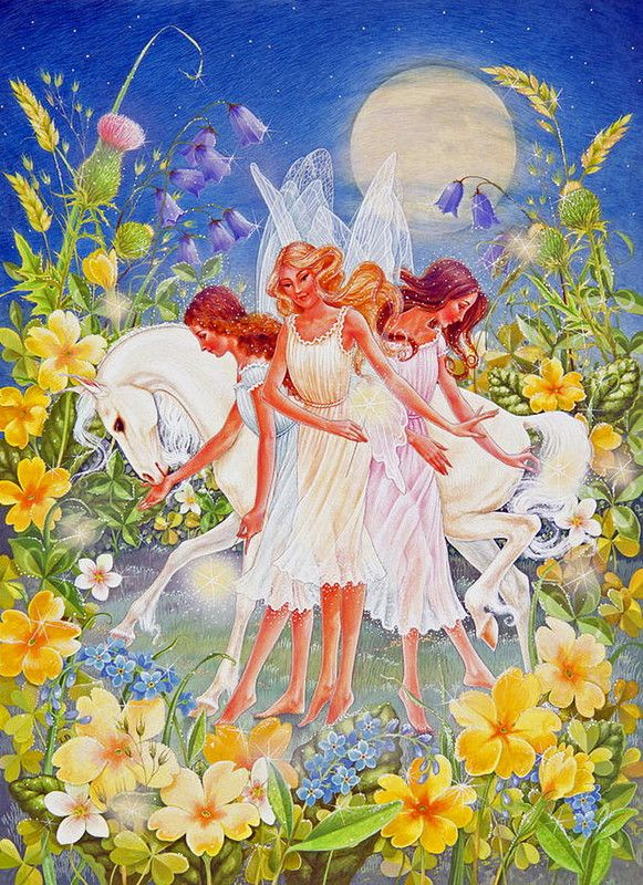 Fairies and a Full Moon by Lynn Bywaters
