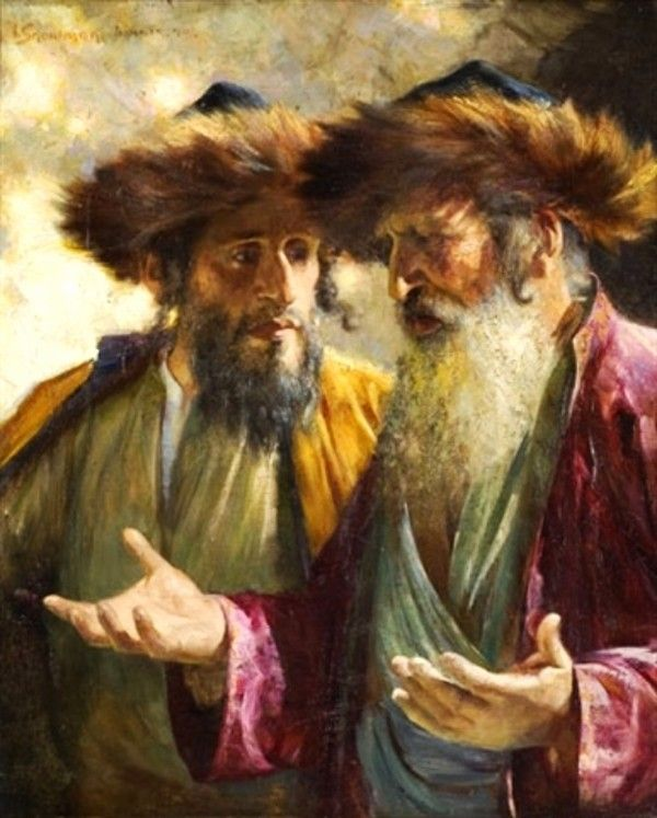 Isaac Snowman- Two rabbis in Jerusalem