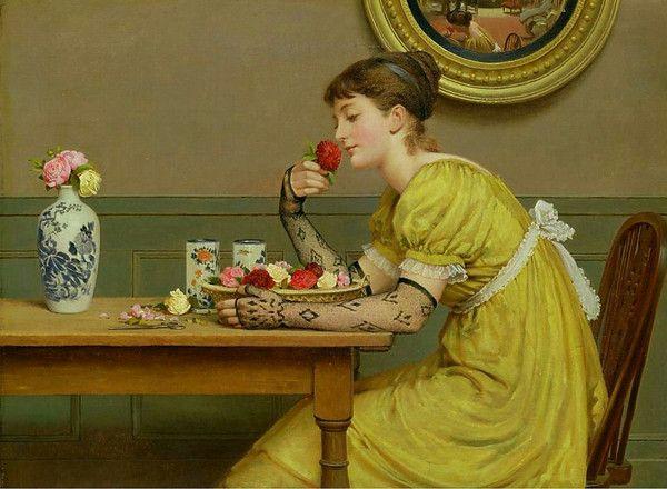 Roses by GEORGE DUNLOP LESLIE