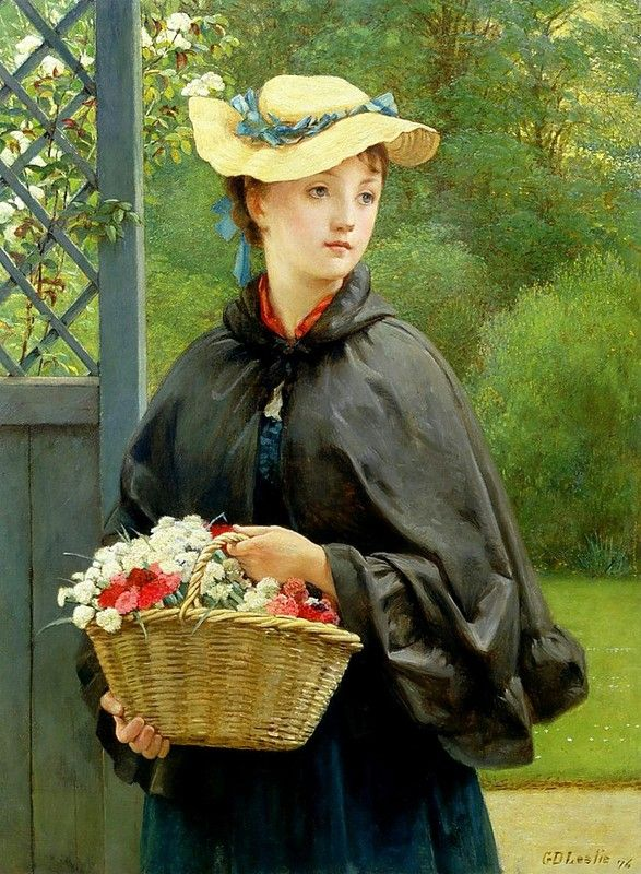 The Gardener's Daughter (1876) by George Dunlop Leslie