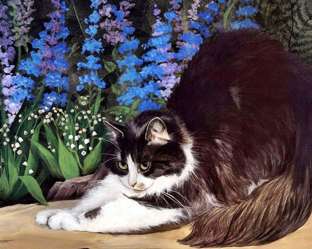 Persis clayton weirs art for Plante toxique chat