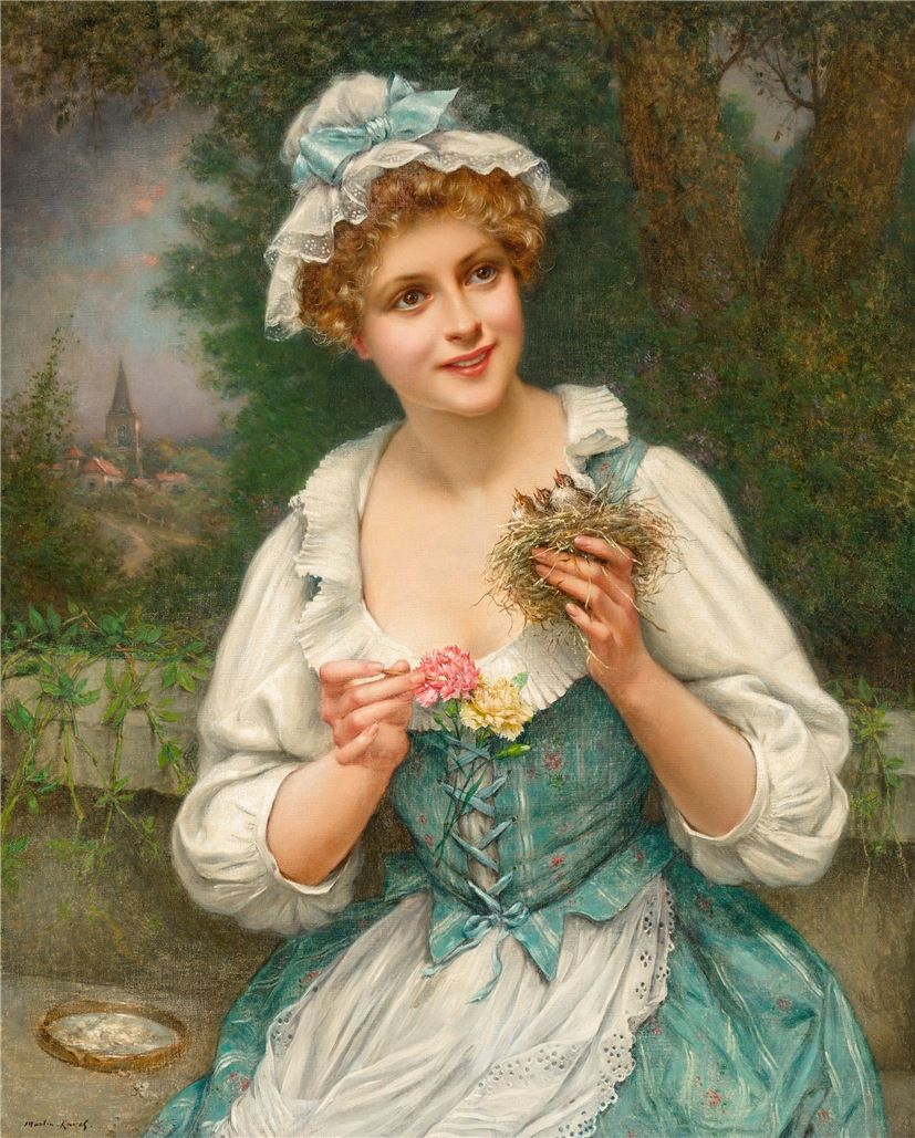 FRENCH PAINTERS: François MARTIN-KAVEL Young Beauty with